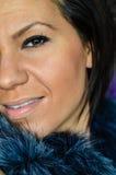 όμορφες νεολαίες γυναικών μπλε ματιών στοκ φωτογραφία