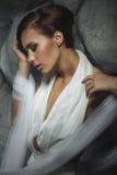 όμορφες νεολαίες γυναικών πορτρέτου Στοκ Εικόνες