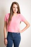όμορφες νεολαίες γυναικών τριχώματος μακριές στοκ εικόνα με δικαίωμα ελεύθερης χρήσης