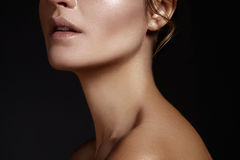 όμορφες νεολαίες γυνα&iota Skincare, wellness, SPA Το καθαρό μαλακό δέρμα, υγιής φρέσκος κοιτάζει Φυσικός καθημερινός makeup στοκ εικόνα με δικαίωμα ελεύθερης χρήσης