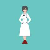 όμορφες νεολαίες νοσο&ka Επίπεδο σχέδιο Στοκ εικόνες με δικαίωμα ελεύθερης χρήσης
