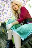 όμορφες ξανθές θερινές νε&o Στοκ φωτογραφία με δικαίωμα ελεύθερης χρήσης