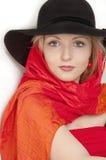 όμορφες ξανθές νεολαίες γυναικών στοκ εικόνα