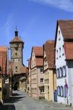 Όμορφες οδοί σε Rothenburg ob der Tauber Στοκ Φωτογραφία