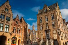 Όμορφες οδοί της ιστορικής πόλης της Μπρυζ στοκ φωτογραφίες με δικαίωμα ελεύθερης χρήσης