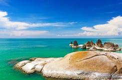 Όμορφες πέτρες στην παραλία Lamai, Koh Samui, Ταϊλάνδη Στοκ Φωτογραφία