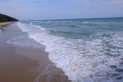 Όμορφες παραλίες και οι κίνδυνοι Rip των ρευμάτων στοκ εικόνα