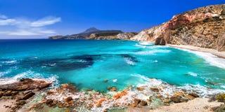 Όμορφες παραλίες των ελληνικών νησιών Μήλος, Κυκλάδες στοκ φωτογραφία με δικαίωμα ελεύθερης χρήσης