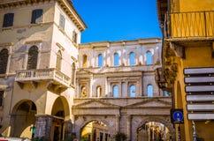 Όμορφες παλαιές οδοί της Βερόνα, περιοχή του Βένετο, της Ιταλίας Στοκ φωτογραφίες με δικαίωμα ελεύθερης χρήσης