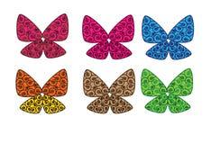 όμορφες πεταλούδες διανυσματική απεικόνιση