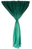 Όμορφες πράσινες κουρτίνες υφασμάτων Στοκ εικόνα με δικαίωμα ελεύθερης χρήσης