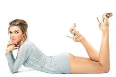 όμορφες πρότυπες θέτοντα&sig Στοκ φωτογραφίες με δικαίωμα ελεύθερης χρήσης