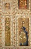 Όμορφες τοιχογραφίες στους τοίχους του παλατιού του Tipu Στοκ Φωτογραφίες