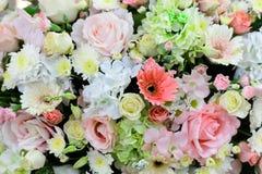 Όμορφες υπόβαθρο και σύσταση λουλουδιών για τη γαμήλια σκηνή Στοκ Εικόνα
