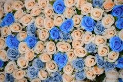 Όμορφες υπόβαθρο και σύσταση λουλουδιών για τη γαμήλια σκηνή Στοκ Εικόνες