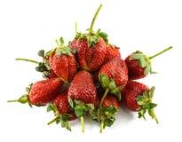 Φράουλες που απομονώνονται όμορφες στο λευκό στοκ εικόνες με δικαίωμα ελεύθερης χρήσης