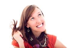 όμορφες χαριτωμένες χαμογελώντας νεολαίες γυναικών στοκ εικόνες