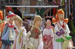 Όμορφες χειροποίητες κούκλες Στοκ εικόνα με δικαίωμα ελεύθερης χρήσης