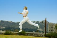 όμορφες ώριμες τρέχοντας &gam Στοκ φωτογραφία με δικαίωμα ελεύθερης χρήσης