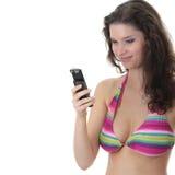 όμορφες bikini ζωηρόχρωμες φο&rho Στοκ Εικόνα