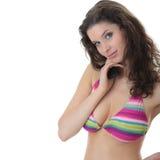 όμορφες bikini ζωηρόχρωμες φο&rho Στοκ Εικόνες
