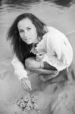 όμορφες bilding νεολαίες γυν&alp Στοκ Εικόνες