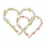 Όμορφες floral καρδιές Στοκ Εικόνες