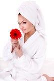 όμορφες flower spa νεολαίες γυν Στοκ φωτογραφίες με δικαίωμα ελεύθερης χρήσης