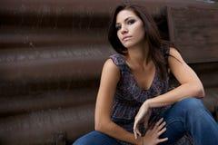 όμορφη άκρη brunette Στοκ Φωτογραφία
