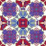 Όμορφη άνευ ραφής διακοσμητική διανυσματική απεικόνιση υποβάθρου κεραμιδιών Στοκ φωτογραφία με δικαίωμα ελεύθερης χρήσης