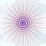 Όμορφη άνευ ραφής τυπωμένη ύλη των μικρών χρωματισμένων κύκλων που διαμορφώνουν το SU διανυσματική απεικόνιση