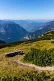 Όμορφη άποψη Άλπεων από το βουνό Dachstein, 5 δάχτυλα που βλέπει την πλατφόρμα, Αυστρία Στοκ Εικόνες