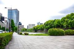 Όμορφη άποψη έξω από το αυτοκρατορικό παλάτι στο Τόκιο, Ιαπωνία στοκ φωτογραφίες με δικαίωμα ελεύθερης χρήσης