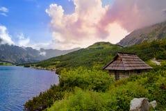 Όμορφη άποψη από πέντε πολωνικές λίμνες, Tatra Στοκ Εικόνα