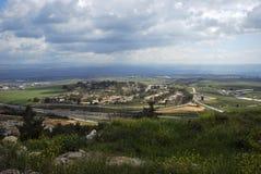 Όμορφη άποψη από τα ύψη Γκολάν σε ανώτερο Galilee Στοκ Φωτογραφία