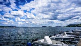 Όμορφη άποψη από την αποβάθρα Στοκ Εικόνα