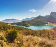 Όμορφη άποψη από την κορυφή της λίμνης Doxa στην Ελλάδα Στοκ εικόνες με δικαίωμα ελεύθερης χρήσης