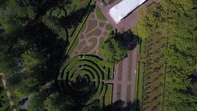Όμορφη άποψη από τον αέρα στη γεωμετρία του τοπίου στο πάρκο της Catherine ` s φιλμ μικρού μήκους