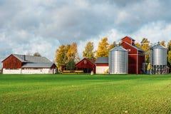 Όμορφη άποψη ενός σουηδικού αγροκτήματος στοκ φωτογραφία