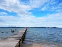 Όμορφη άποψη λιμενοβραχιόνων Στοκ Εικόνες