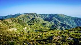 Όμορφη άποψη πανοράματος βουνών, βουνό Rila, Βουλγαρία Στοκ εικόνες με δικαίωμα ελεύθερης χρήσης