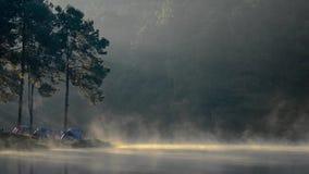 Όμορφη άποψη πρωινού στη λίμνη Ung πόνων, πόνος Ung απόθεμα βίντεο