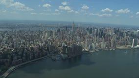 Όμορφη άποψη πόλεων της Νέας Υόρκης απόθεμα βίντεο