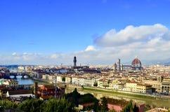 Όμορφη άποψη πόλεων της Φλωρεντίας, Ιταλία Στοκ φωτογραφία με δικαίωμα ελεύθερης χρήσης