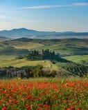 Όμορφη άποψη στην Τοσκάνη στοκ εικόνα