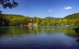 Όμορφη άποψη στο εθνικό πάρκο λιμνών Plitvice Κροατία στοκ εικόνα