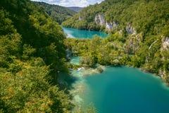 Όμορφη άποψη στο εθνικό πάρκο λιμνών Plitvice Κροατία στοκ φωτογραφία με δικαίωμα ελεύθερης χρήσης
