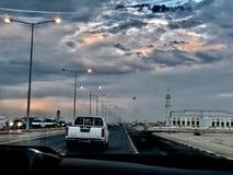 Όμορφη άποψη σχετικά με ένα ταξίδι αυτοκινήτων στοκ φωτογραφία με δικαίωμα ελεύθερης χρήσης