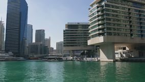 Όμορφη άποψη σχετικά με τη μαρίνα του Ντουμπάι απόθεμα βίντεο