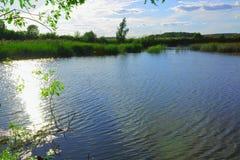 Όμορφη άποψη σχετικά με τη μικρή λίμνη Στοκ φωτογραφία με δικαίωμα ελεύθερης χρήσης